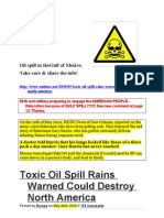 Toxic Oil Spill Rains Warned Could Destroy North America