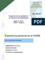 Experiencia en Calidad Del HUMS_MAMARIN