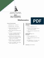 1354212035 2012 Mathematics Extension 1 Assessment Task