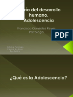 3. CLASE Teoría Del Desarrollo Humano - Adolescencia