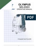 Hydroforce Olympus M3-200H Manual