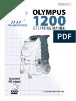 Hydroforce Olympus M1200 Manual