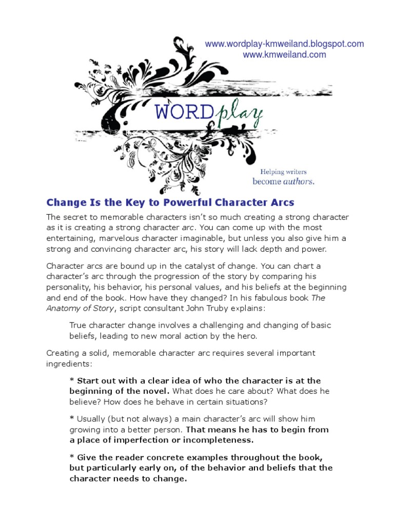 Change is the Key to Powerful Character Arcs | Novels