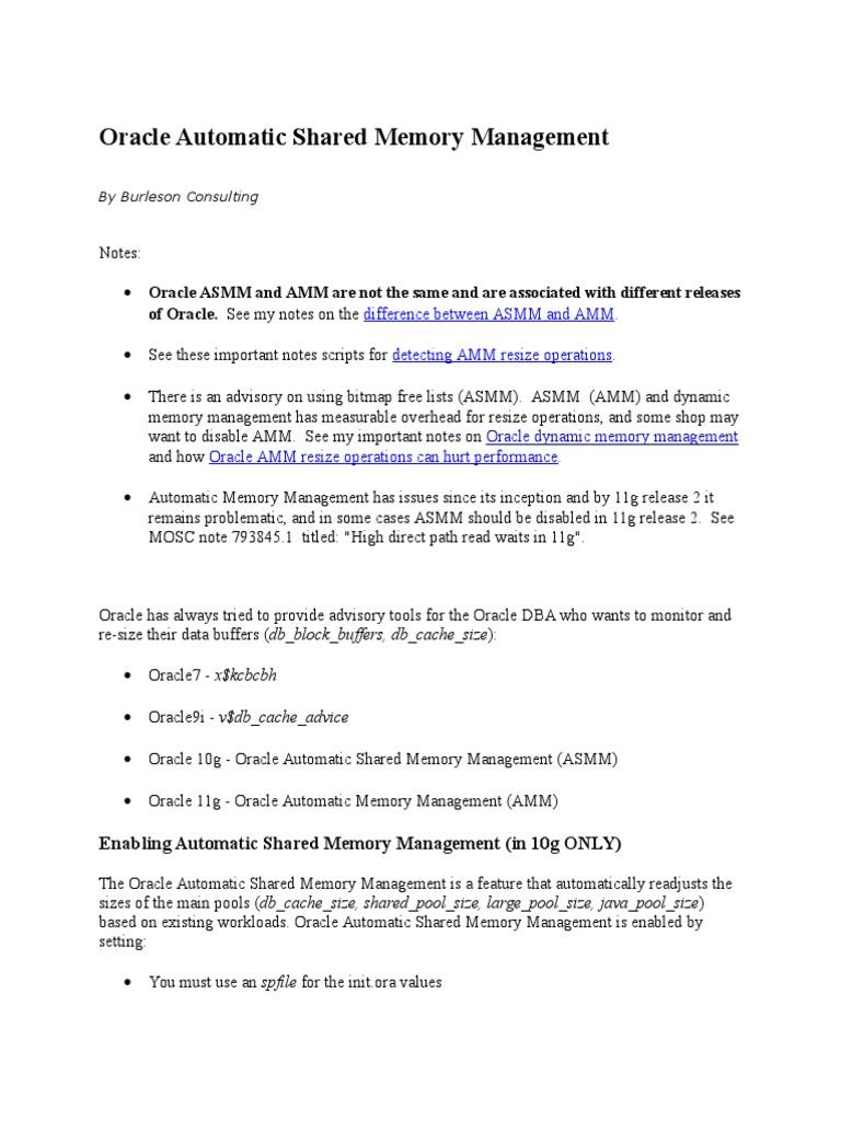 Asmm and amm oracle database computer data baditri Choice Image
