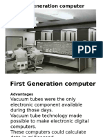 computer history with its generation and many features