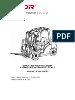 Manual Carretilla Elevadora de Diesel