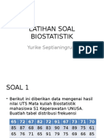 LATIHAN SOAL BIOSTATISTIK