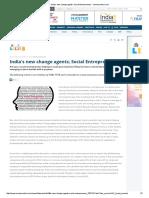India's New Change Agents; Social Entrepreneurs - Moneycontrol
