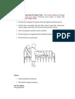 SOP Mengatur Posisi Pasien Di Tempat Tidur