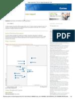 Cherwelll Magic Quadrant for IT Service Support Management Tools