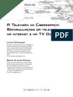 A Televisao No Ciberespaco - reformulacoes Da Televisão na internet e na TV Digital