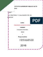 Monografia La Oratoria
