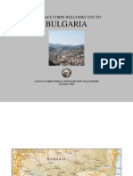 Peace Corps Bulgaria Welcome Book  |  December 2009