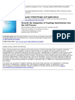 Towards the Integration of Topology Optimization Into the CAD Process Cuilliere 2014