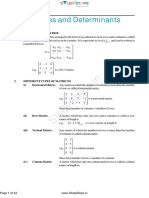Matrices and Determinant Maths Theory