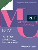 Programa de Sala | Musica de Camara