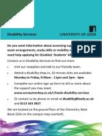 Disability Services A5 Flier