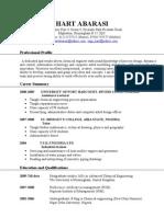 HART'S CV