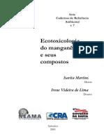 Ecotoxicologia Manganês