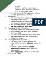 tsunami notes