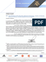 Nota a FIFA y Conmebol