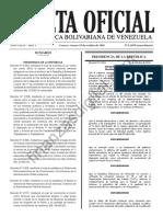 Gaceta Extraordinaria 6269 Decretos Aumentos Sueldos Cestatickets