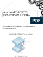 Distributed Forces - Moment of Inertia