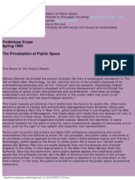 Privatization of Public Space