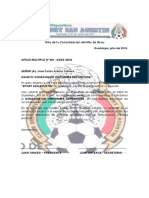 OFICIO de COLABORACION de Implementos Deportivos