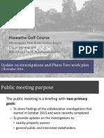 Hiawatha Golf Course Commissioner Update Presentation 20161102