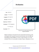 Declination Data