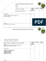Formato de Planificación en Ausencia Del Docente, 26 de Octubre