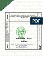 Online MBA Syllabus