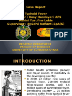 Case Report Tyhoid Fever Ppt