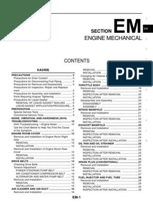NISSAN URVAN.pdf | Belt (Mechanical) | Piston on