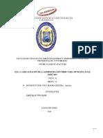 Recaudacion Tributaria en Las Municipali