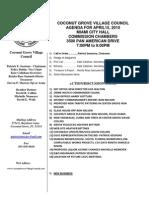 CGVC April 10 Agenda