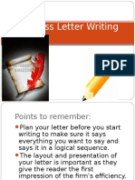 5. Business Letter Writing