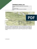 Terremoto Nepal 2015 reporte