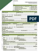GP-For-001 Formulario Único de Solicitudes Prestacionales 040414 V2....