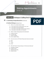 L6 Worksheet - Making Appointments