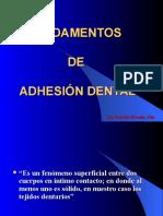 Clase de Facultad Nº4 Fundamentos de Adhesión 1