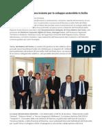 Giuseppe Lasco Accordo Tra Terna e La Regione Siciliana