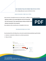 Como Instalar Base de Dados SQL Server 2012