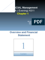 Lecture 1 - Overview of Financial Statement Analysis