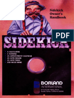 Sidekick Version 1 Ownner's Han - Borland