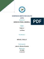 Actividades de 4ta Unidad Derecho Penal