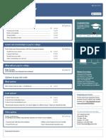 Financial Aid Award Information Sample Sheet