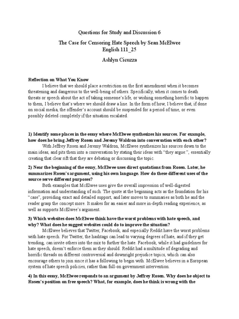 College speech papers Ottica il Punto di Vista