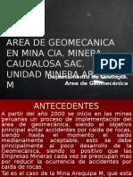 Area de Geomecanica en CIA Minera Caudalosa Uea Arequipa m